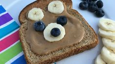 Not just for breakfast – a tasty teddy bear face can take toast from morning to afternoon or anytime! Healthy Kids, Healthy Snacks, Bear Face, Cooking With Kids, Kid Friendly Meals, Food Allergies, Kids Meals, Breakfast Recipes, Sunflower Butter