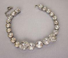 1950s Eisenberg Ice Rhinestone Bracelet Bridal Bracelet Holiday Jewelry Vintage   eBay