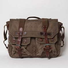 "Rugged, hardwearing, and good looking- Polo Ralph Lauren's ""explorer"" messenger is a prime example of a perfect bag."