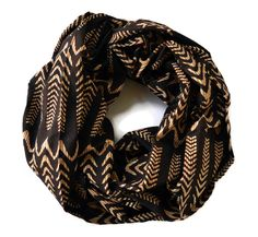 Illusion Waves Infinity Scarf by Meghna Dave