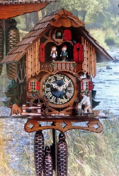 Cuckoo Kingdom, inc - Cuckoo Clock | Wood chopper | Water wheel | Dancers | Model MT 6667/9