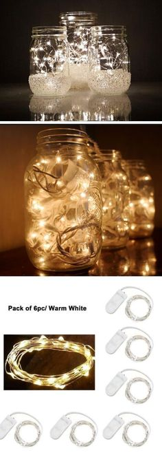 Mason Jar Christmas Lights | Inexpensive Christmas Decorations on a Budget | Cheap Weddding Outdoor Wedding Ideas