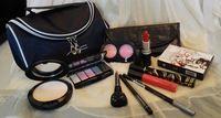 Cosmética regalo Set de maquillaje Bolsa de Promoción de Navidad Marca caso del recorrido Kit 11pcs Pincel de labios Colorete Sombra de Ojos