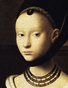 Petrus Christus. Portrait of a Young Lady. Gemaldegalerie Berlín.