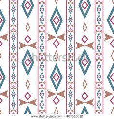 seamless  ethnic pattern white background stripes.