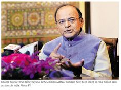New Delhi: Measures to promote financial inclusion, transfer of entitlements to people's bank accounts using Aadhaar and access to credit to the unorganized sector are making sure that no citizen is left outside of the national mainstream, finance minister Arun Jaitley said on Sunday.  Get #NarendraModi & #BJP #latestnews and #updates with - http://nm4.in/dnldapp http://www.narendramodi.in/downloadapp. Download Now.