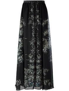 PHILOSOPHY DI LORENZO SERAFINI leaf print maxi skirt. #philosophydilorenzoserafini #cloth #skirt