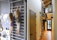 Wall Monkey Bars Home Indoor Fitness