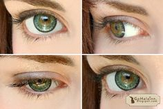 circle lenses before and after | Go Hálainn: Review: Barbie Eye Super Nudy Circle Lenses #Green