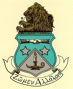 The crest of Alpha Delta Pi.