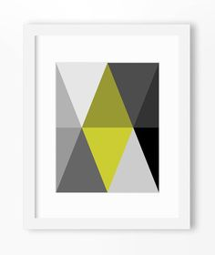 Hey, I found this really awesome Etsy listing at https://www.etsy.com/listing/226702923/triangle-print-abstract-art-print-grey