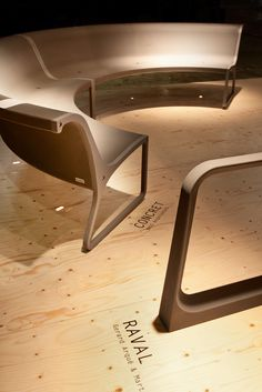 RAVAL Bike rack and CONCRET Bench in Slimconcrete