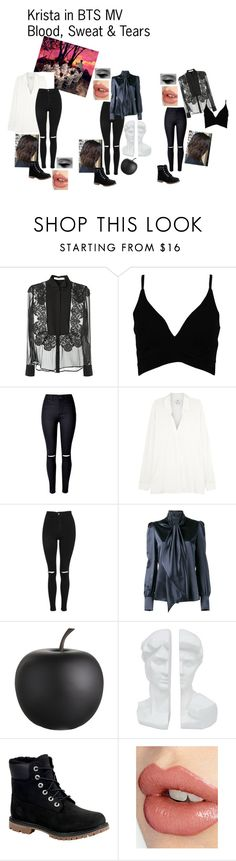"""""""Krista in BTS MV Blood, Sweat & Tears"""" by cbwilliams2002 on Polyvore featuring Givenchy, Boohoo, Vince, Topshop, Yves Saint Laurent, CB2, Three Hands, Timberland, Charlotte Tilbury and kpop"""