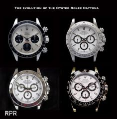the evolution of the Oyster Rolex Daytona from ref 6263, 16520 to Ref 116520 to the latest Ref 1165oo LN..