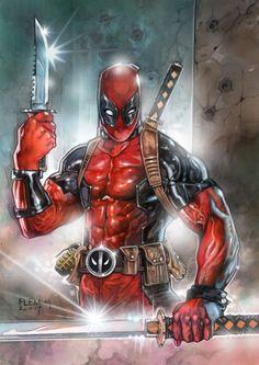 2018 Fleer Ultra X-Men Deadpool , in Vartan Dadian's Superheroes Comic Art Gallery Room Marvel Art, Marvel Dc Comics, Marvel Heroes, Marvel Comic Character, Marvel Characters, Comic Kunst, Comic Art, Deadpool Art, Deadpool Stuff
