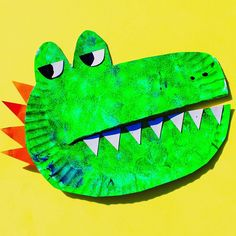 "A brilliant craft and book recommendation from the lovely @thestrongcollection This 'gater's bark is much worse than his bite! Meet our very own paper plate Alan from ""Alan's Big Scary Teeth"" a super fun book by @booksbyjarvis & @bigpicturebooks which recently won the V&A award for best illustrated book! Alan is a fearsome denture-sporting alligator who holds a secret from the rest of the animals in the jungle - his razor-sharp teeth come out every night! All Alan knows is scaring others so…"