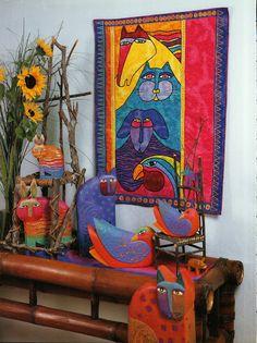 Laurel Burch Quilts Kindred Creatures by Burch - Jimali McKinnon - Веб-альбомы Picasa Laurel Burch, Cat Quilt Patterns, Psychadelic Art, Cat Crafts, Textile Artists, Art Studios, Cat Art, Art Projects, Quilts