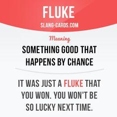 Fluke Slang English, English Phrases, English Idioms, English Writing, English Words, English Lessons, Learn English, English Grammar, Spanish English