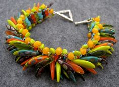 Great Czech dagger bead pattern links.  this bracelet by Rose Clearfield.  Great job!