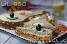 O Sanduíche Integral com Frango é perfeito como refeição leve, #jantar, é natural, super saboroso e mega nutritivo!  #Receita aqui: http://www.gulosoesaudavel.com.br/2014/05/29/sanduiche-integral-frango/