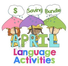 April Language Bundle - $ saving from SLPrunner on TeachersNotebook.com -  (48 pages)  - April absurdities, language calendar activities, and sentence scrambles! This bundle contains 3 fun and engaging April themed activities.