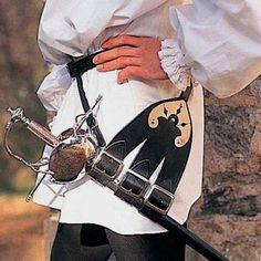 Schwerthaltergürtel für Rapiere