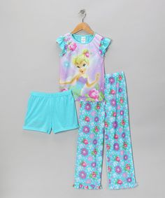 Take a look at this Turquoise Tinker Bell Pajama Set - Girls by Disney on #zulily today!