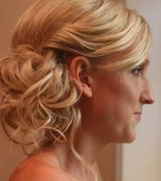 Necklace and Dress and Hair - Good or Bad Combo? :  wedding destination wedding dress hair necklace updo Bridal Side Updo   Messy