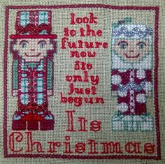 "Carol Smith ""So the ready steady stitch challenge this month was inspired by ric rac - for me ric rac means the 70s, and a 70s Christmas means SLADE!"""
