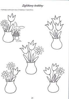 Risultati immagini per jaro pracovní list Spring Activities, Preschool Activities, Quiet Book Templates, Fruit Garden, Flower Crafts, Crafts For Kids, Jar, Easter, Inspiration