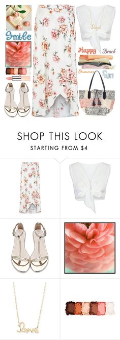 """""""Summer Fun"""" by grozdana-v ❤ liked on Polyvore featuring New Look, WithChic, Pottery Barn, Sydney Evan, NYX and Linum Home Textiles"""
