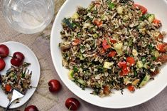 Sweet & Savory Wild Rice Salad from thekitchn.com (would probably leave our the dates though...)