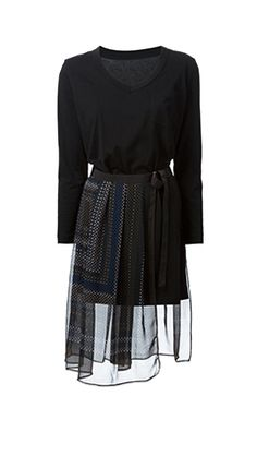 SACAI 半透明叠层连衣裙
