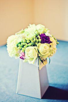 The random purple flower just makes it pop. Wedding Themes, Wedding Events, Wedding Cakes, Wedding Ideas, Floral Wedding, Wedding Flowers, Wedding Stuff, Got Married, Getting Married