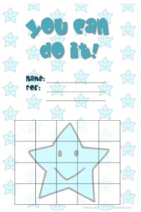 Cute Star Charts - free printable reward charts for kids and behavior charts with smiley star characters and backgrounds