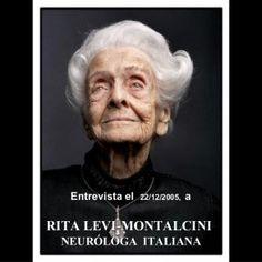 RITA LEVI-MONTALCINI NEURÓLOGA ITALIANA Entrevista el 22/12/2005, a    ¿Cómo celebrará sus 100 años?  Ah, no sé si viviré, y además no me placen las celeb. http://slidehot.com/resources/rita-levi-montalcini-premio-nobel-medicina-1986.49062/