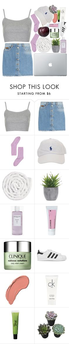 """""""how could it be over i never saw it coming"""" by caroliineexo ❤ liked on Polyvore featuring Topshop, MSGM, Monki, VIPP, Lux-Art Silks, Sachajuan, Korres, Clinique, adidas Originals and NYX"""