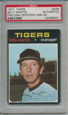 BILLY-MARTIN-SIGNED-AUTOGRAPHED-PSA-DNA-AUTO-YANKEES #billymartin #martin  #signedcard #autograph #yankees