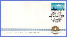 Έκδοση Υπερατλαντικές Πτήσεις Σχεδιάστηκε από τον Α. Τάσσο και Τυπώθηκε τον Μάιο του 1966 στο τυπογραφείο Ασπιώτη ΕΛΚΑ. Olympics, Stamp, Personalized Items, Cards, Collection, Stamps, Maps