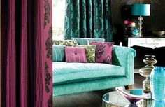 Turquoise living room ideas... yes please. two of my favorite colors.