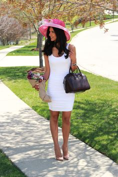 Kentucky Derby Party Style - this Dress is perfect for any party this Spring and summer and less than $60! Givenchy Antigona bag and Christian Louboutin heels.