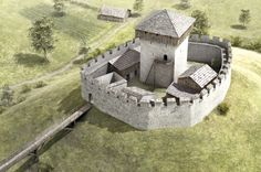 Chateau Medieval, Medieval Town, Medieval Castle, Medieval Fantasy, Fantasy City, Fantasy Castle, Castle Wall, Castle House, Small Castles