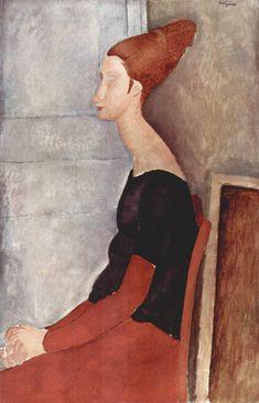 Amedeo Modigliani - Jeanne Hébuterne in abiti scuri, 1918