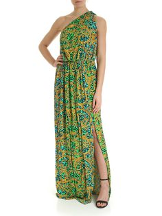 Leo Chain One-shoulder Dress In Green One Shoulder, Shoulder Dress, Versace Jeans Couture, Dress Outfits, Dresses, Couture Fashion, Green Dress, World Of Fashion, Stretch Fabric