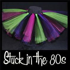 STUCK IN THE 80S - baby - handmade tutu skirts - first birthday tutu - tutus - tutu dress - shimmery tutu - glitter tutus - party tutu