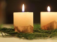 Kerzen mit Kupfer verzieren | www.jubeltage.at