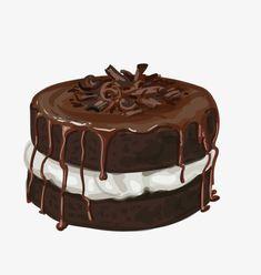 Cake Drawing, Food Drawing, Cake Illustration, Food Illustrations, Baking Logo, Cake Logo Design, Cute Food Art, Eye Drawing Tutorials, Kitchen Wall Art