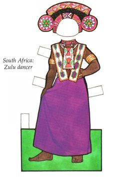 Little African Girl Paper Doll Paper Doll Craft, Paper Toys, Costumes Around The World, Swedish Girls, World Thinking Day, African Crafts, Paper Dolls Printable, African Girl, Vintage Paper Dolls