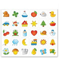 "Sticker für Garderobe und Bildtafel ""Basic"" verschiedene Motive Craft Stick Crafts, Preschool Crafts, Crafts For Kids, Kindergarten Art Lessons, Cartoon Stickers, Toddler Books, Infant Activities, Drawing For Kids, Art Plastique"