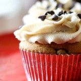 Chocolate Chip Cookie Dough Cupcakes- Annie's eats.  top ten 2013